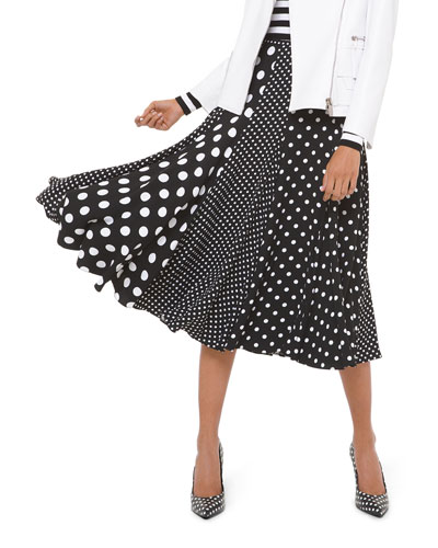 Polka-Dot Paneled Dance Skirt