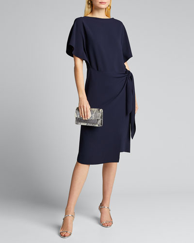 Wayland Short-Sleeve Wrap Dress
