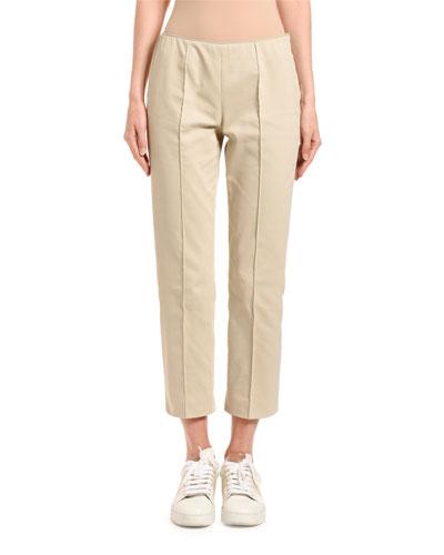 Slim-Leg Side-Zip Capris