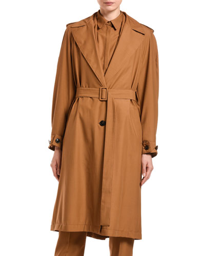 Wool Trench Belted Coat