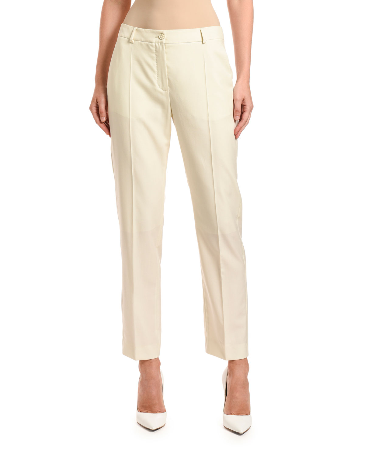 Agnona Pants WOOL STRAIGHT-LEG LINED PANTS
