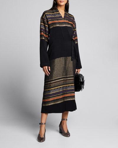 Tasmeen Basket-Woven Wrap Coat