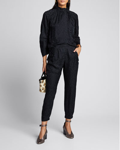 Gabi Fluid-Draped Trousers