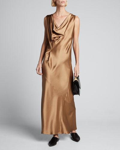 Liana Long Satin Dress