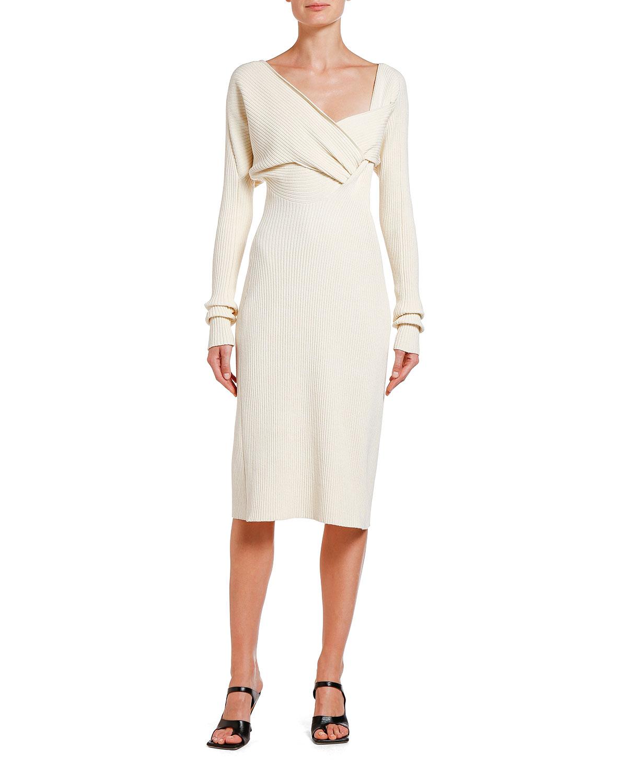 Bottega Veneta Dress RUCHED RIBBED SWEATER DRESS