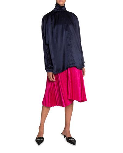 Jacquard Pleated Skirt