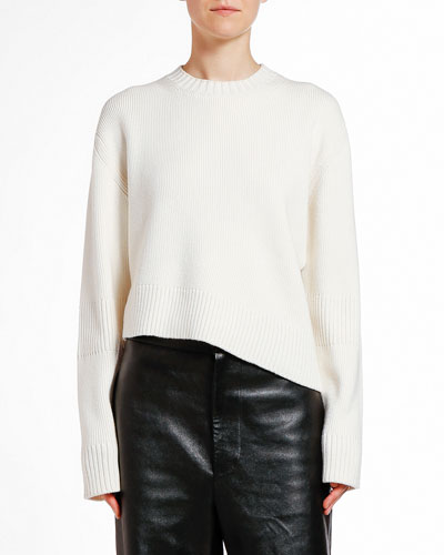 Wool Asymmetric Cutout Sweater