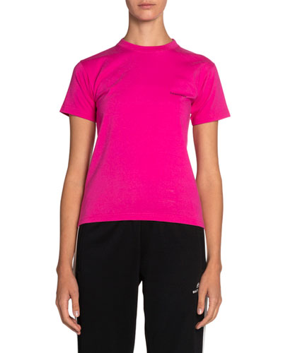 Copyright Fitted Jersey Tee, Pink