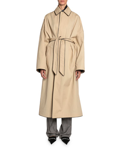 Wrapped Cotton Cocoon Coat