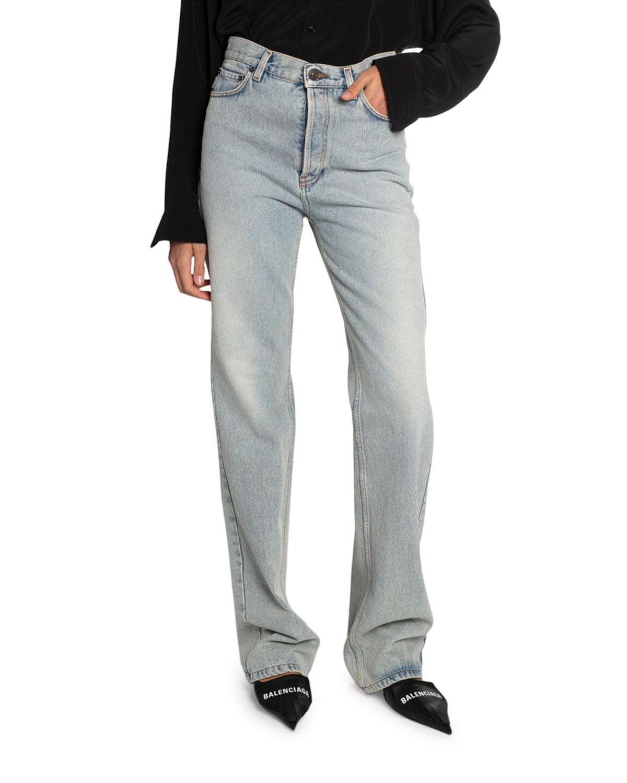 Balenciaga Jeans HIGH-RISE STRAIGHT-LEG JEANS