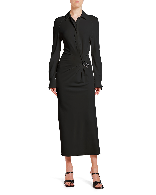 Bottega Veneta Dress WRAPPED MIDI SHIRTDRESS