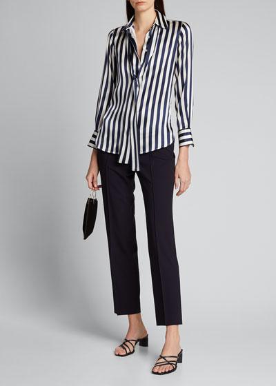 Side Zip Skinny Pants