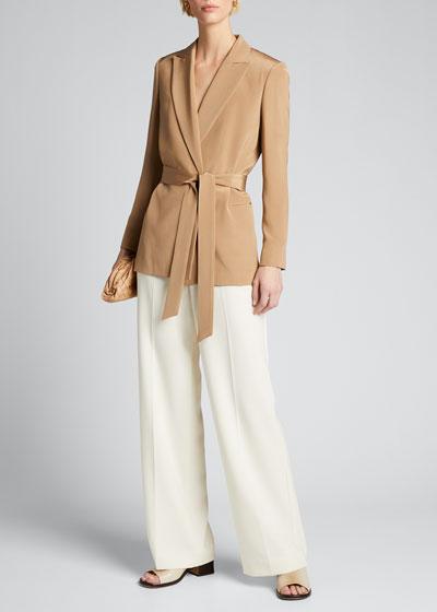 Silk Belted Jacket