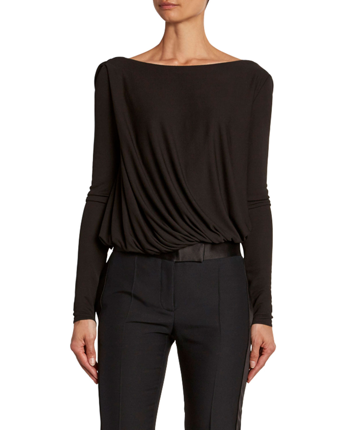 Tom Ford Suits DRAPED-FRONT JERSEY BODYSUIT