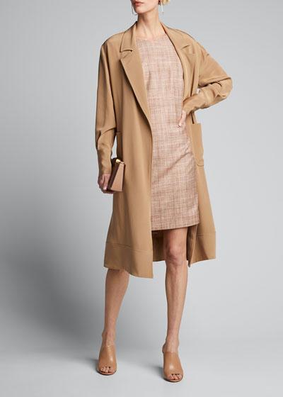 Plaid Silk-Cotton Sheath Dress