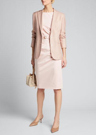 Wool-Silk Tailored Jacket