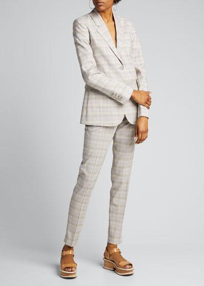 Lisa Plaid Skinny Trousers