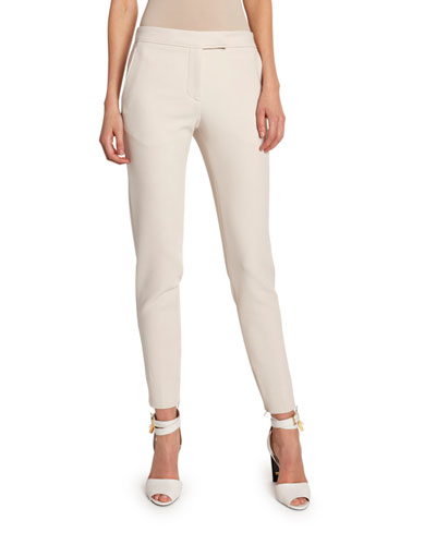 Stretch-Wool Skinny Crop Pants