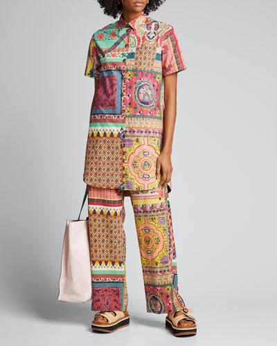 Cotton Polo Short-Sleeve Dress