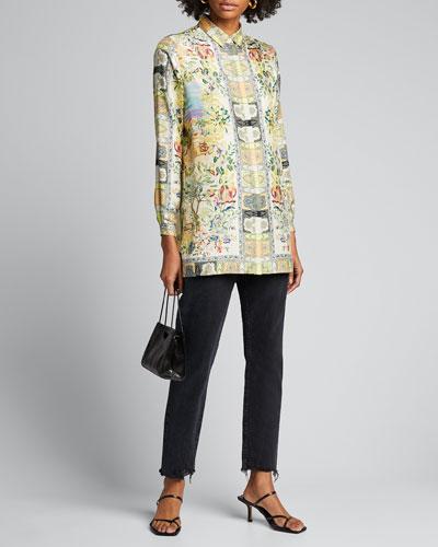 Printed Silk Safari Tunic