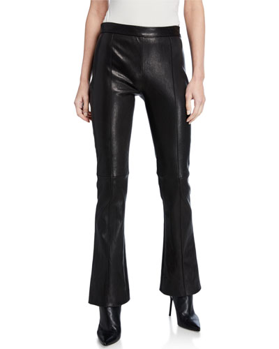 Leather Cropped Kick Pants