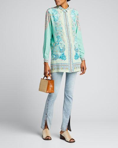Silk Print Paisley Tunic