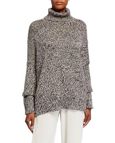 Merino Wool Knit Turtleneck Sweater