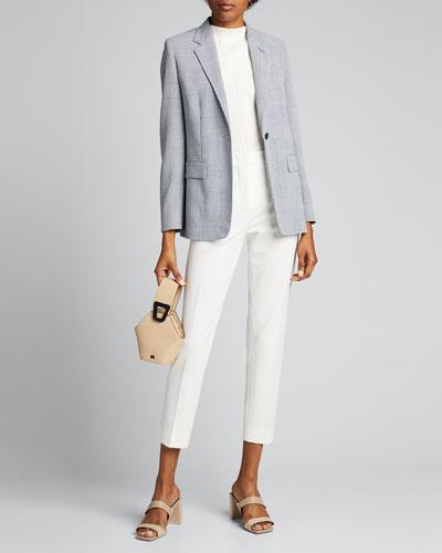Olona Glen-Plaid Wool Jacket