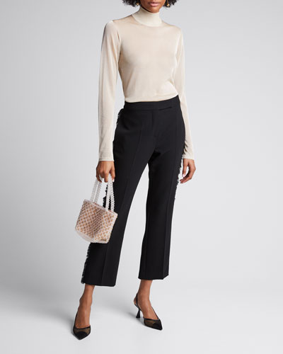 Pietra Sheer Mock-Neck Sweater with Cami