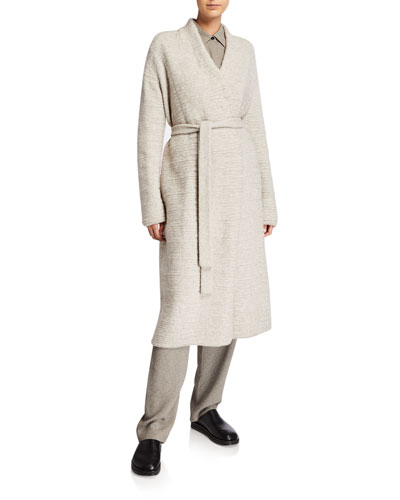 Atra Wool-Blend Belted Cardigan