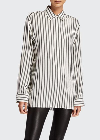 Big Sisea Striped Silk Shirt