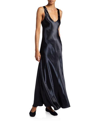 Natasha Shiny Satin Dress