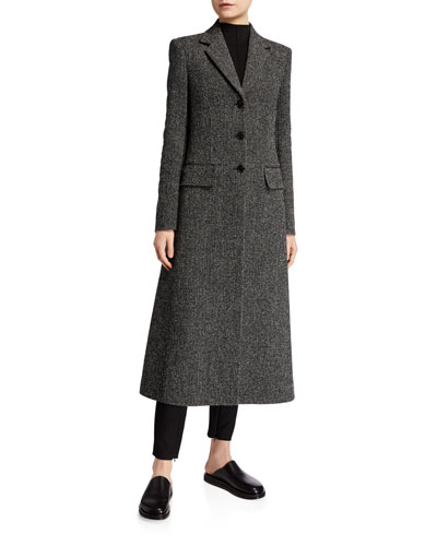 Sua Wool Button-Front Coat