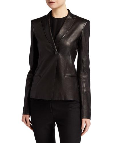 Emi Leather Blazer