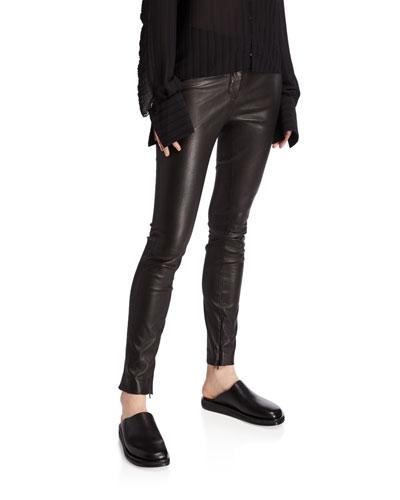 Jodphur Shiny Stretch Leather Pants
