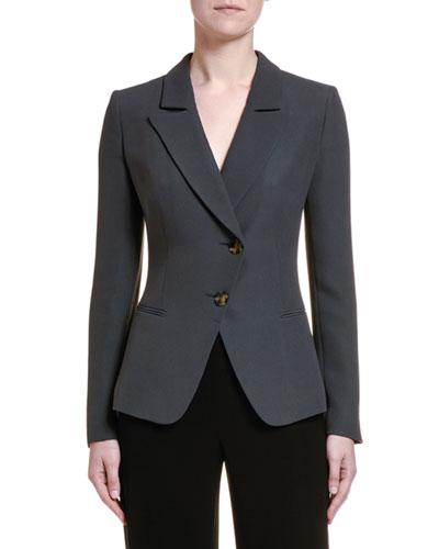 Stretch Twill Asymmetric Jacket