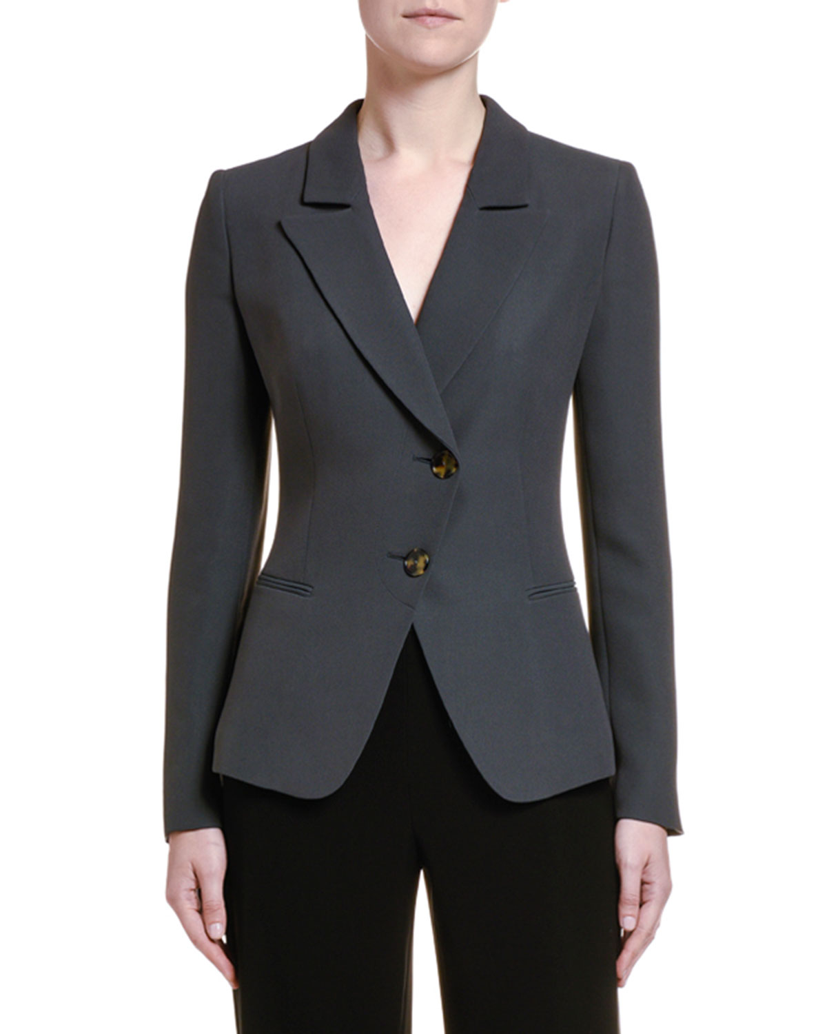 Giorgio Armani Jackets STRETCH TWILL ASYMMETRIC JACKET