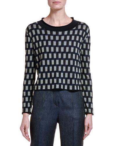 Cubist Silk-Cotton Crop Sweater