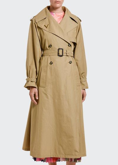 Lightweight Gabardine Belted Trench Coat