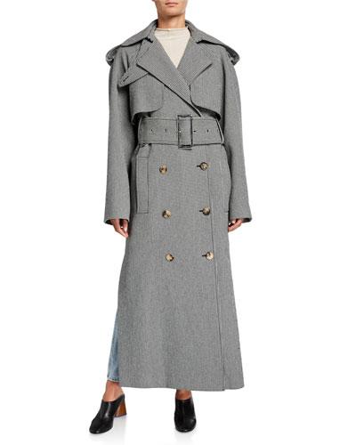 Binx Herringbone Trench Coat