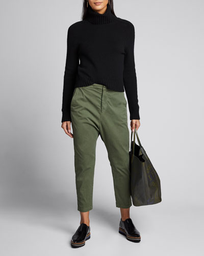 Paris Straight-Leg Cropped Pants