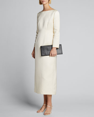 Anke Long-Sleeve Midi Dress