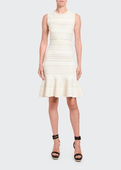 Textured Silk Jersey Sleeveless Dress