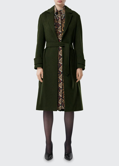 Sherringham Cashmere Wrap Front Coat
