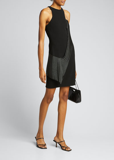 Chainmail Jewel-Neck Cocktail Dress