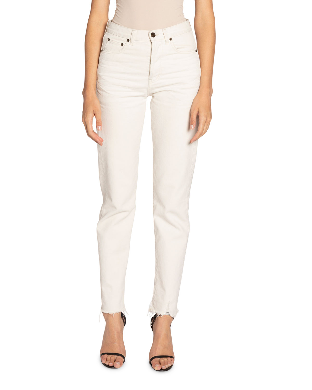 Saint Laurent Jeans DISTRESSED SLIM-FIT JEANS
