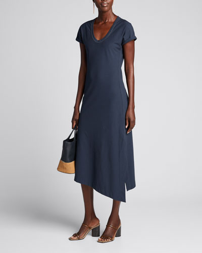 Couture Jersey Scoop-Neck Dress