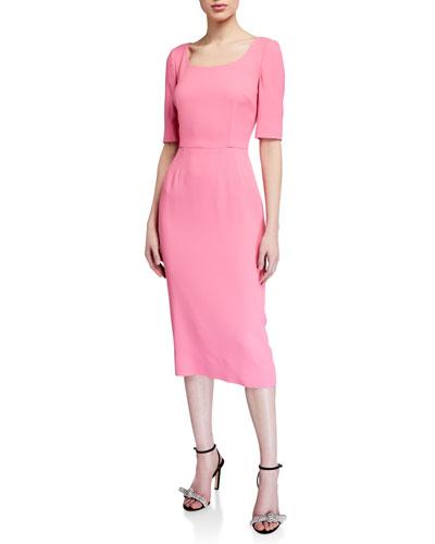 Cady 1/2-Sleeve Sheath Dress