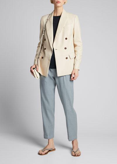Cotton-Linen Drill Pants