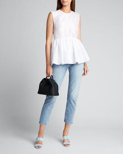 Crewneck Wrapped Peplum Top